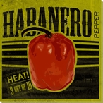 Habanero Pepper Wrapped Canvas Giclee Print Wall Art