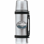 Halibut Fish Blue Stainless Steel Thermos with Pewter Accent