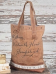 Hampstead Stonewashed Canvas and Leather Tote Bag with Brass Elements