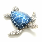 Hanging Blue Turtle Statues, Set of 4