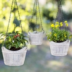 Hanging Cement Planters, Set of 3