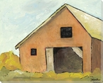 Happy Barn Wrapped Canvas Giclee Print Wall Art