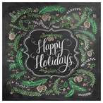 Happy Holidays Absorbent Beverage Coasters, Set of 12