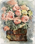 Harmony of Roses Romantica Wrapped Canvas Giclee Print Wall Art