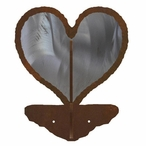 Heart Burnished Double Metal Wall Hook