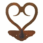 Heart Metal Robe Hook