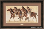 Heartbeats and Hoofbeats Sioux Indians Framed Art Print Wall Art