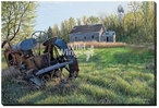 Heavy Metal Tractor Wrapped Canvas Giclee Print Wall Art