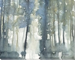 Heavy Mist I Trees Wrapped Canvas Giclee Art Print Wall Art