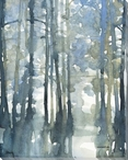 Heavy Mist II Trees Wrapped Canvas Giclee Art Print Wall Art