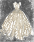 Heirloom Gown II Wrapped Canvas Giclee Print Wall Art