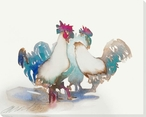 Hens Chicken Birds Wrapped Canvas Giclee Print Wall Art