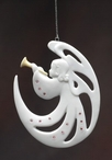 Herald Angel Sing Christmas Tree Ornaments, Set of 4
