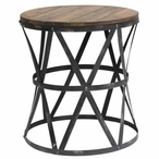 Heraldine Metal and Wood End Table