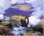 High in the Silence Flying Bird Wrapped Canvas Giclee Print