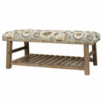 Hillcrest Rustic Frame and Pattern Pinewood Bench
