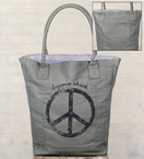 Hippie Chick Stonewashed Canvas Grocery Market Tote Bag