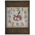 Historic Route 66 Metal Wall Clock