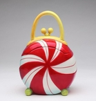 Holiday Peppermint Purse Ceramic Cookie Jar by Babs