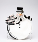 Holiday Snowman Plates, Set of 2