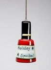 Holiday Sparkle Nail Polish Christmas Tree Ornaments by Babs, Set of 4