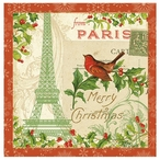 Holiday Travel Merry Christmas Absorbent Beverage Coasters, Set of 8