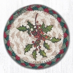 Holly Braided Jute Coasters by Sandy Clough, Set of 8