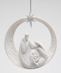 Holy Family Circle Christmas Tree Ornaments, Set of 4