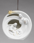 Holy Family with Star Christmas Tree Ornaments, Set of 4