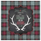 Home For the Holidays Absorbent Beverage Coasters, Set of 12