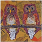 Hoo Hoo Owl Ceramic Trivets by Elizabeth St. Hilaire Nelson, Set of 2
