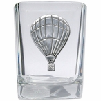 Hot Air Balloon Pewter Accent Shot Glasses, Set of 4