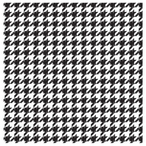 Hounds Tooth Absorbent Beverage Coasters, Set of 8