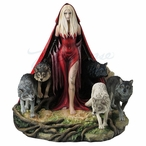 Howl Lady with Wolves Sculpture by Ruth Thompson