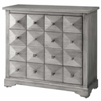 Hudson Pewter 4 Drawer MDF and Wood Chest