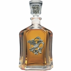 Hummingbird Capitol Glass Decanter with Pewter Accents