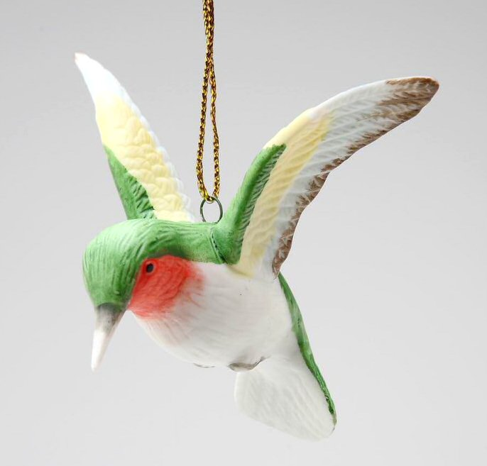 hummingbird christmas tree ornaments set of 4