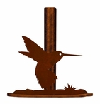 Hummingbird Metal Paper Towel Holder