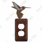Hummingbird Single Metal Outlet Cover