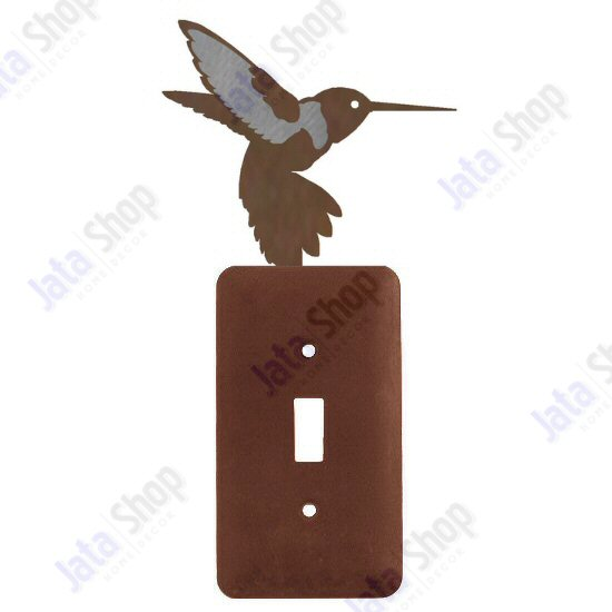 Hummingbird Single Toggle Metal Switch Plate Cover - Nature Designs