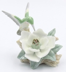 Hummingbird with Magnolia Flower Sculpture