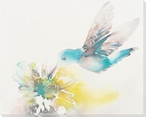 Hummy Hummingbird Wrapped Canvas Giclee Print Wall Art