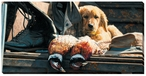 Hunting Equipment Golden Retriever Dog Wrapped Canvas Giclee Print