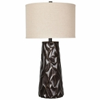 Huston Resin Table Lamp with Natural Linen Shade