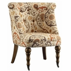 Hutchison Pattern Fabric and Birch Wood Chair with Nail Head Trim