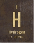 Hydrogen - Periodic Table of Elements Wrapped Canvas Giclee Art Print