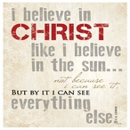 I Believe in Christ Absorbent Beverage Coasters, Set of 12
