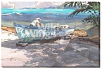 In the Boatyard Wrapped Canvas Giclee Print Wall Art