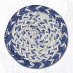 In The City Blue Craft Spun Jute Coasters, Set of 8