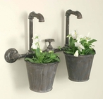 Industrial Double Metal Wall Planter